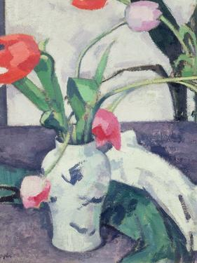 Still Life: Tulips in a Chinese Vase, 1924 by Samuel John Peploe