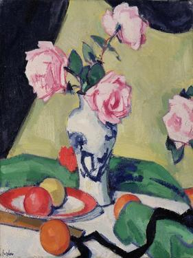 Still Life with Japanese Jar and Roses, C.1919 by Samuel John Peploe