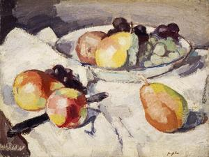 Still Life with Pears and Grapes, C.1930 by Samuel John Peploe