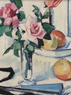 Still Life with Pink Roses by Samuel John Peploe