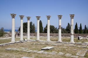 Greece, Kos Islands, Askelepieon, Colonnade by Samuel Magal