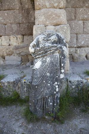 Greece, Kos Islands, Askelepieon, Statue by Samuel Magal