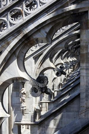 Italy, Milan, Milan Cathedral, Flying Buttresses