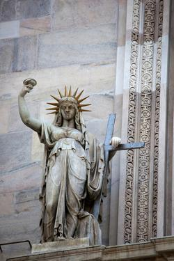 Italy, Milan, Milan Cathedral, Statues and Reliefs by Samuel Magal