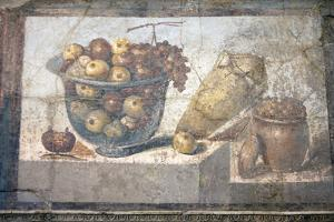 Italy, Naples Museum, from Pompeii, Praedia of Julia Felix (II, 4, 3), Still Life, Fruit in a Bowl by Samuel Magal