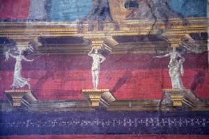 Italy, Naples, Naples Museum, Boscoreale, Villa of P.Fannius Sinistrex, Sanctuary Entrance, Fresco by Samuel Magal