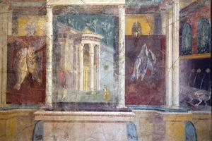 Italy, Naples, Naples Museum, from Pompeii, House IV,  Insula Occidentalis 41, Panel by Samuel Magal