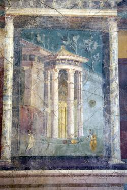 Italy, Naples, Naples Museum, from Pompeii, House IV,  Insula Occidentalis 42, Panel by Samuel Magal