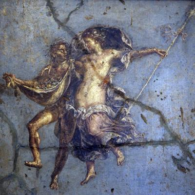 Italy, Naples, Naples Museum, from Pompeii, House of Diodcuri (VI 9, 6-7), Couple In Flight by Samuel Magal