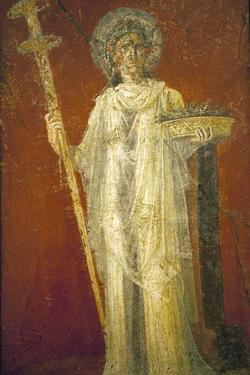 Italy, Naples, Naples Museum, from Pompeii, House of Diodcuri (VI 9, 6-7), Saturn by Samuel Magal