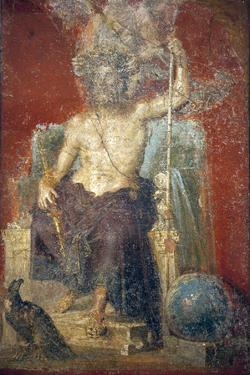 Italy, Naples, Naples Museum, from Pompeii, House of Diodcuri (VI 9, 6-7), Zeus by Samuel Magal