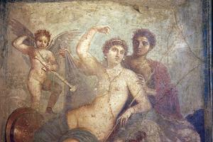 Italy, Naples, Naples Museum, from Pompeii, House of Mars an Venus (VII, 9, 47), Mars and  Venus by Samuel Magal