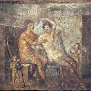 Italy, Naples, Naples Museum, from Pompeii, House of Meleager (VI 9, 2.13), Ares and Aphrodite by Samuel Magal