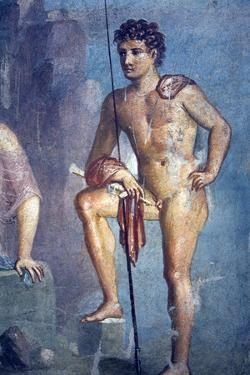 Italy, Naples, Naples Museum, from Pompeii, House of Meleager (VI 9), Io and Argo by Samuel Magal