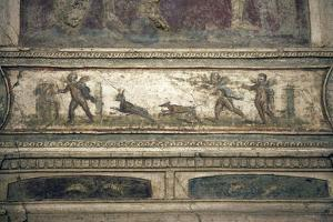 Italy, Naples, Naples Museum, from Pompeii, House of Meleager (VI 9), Stucco Policromo (Polychrome) by Samuel Magal