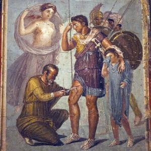 Italy, Naples, Naples Museum, from Pompeii, House of Siricus (VII, 1, 47), Iapyx and Aeneas by Samuel Magal