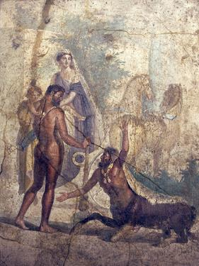 Italy, Naples, Naples Museum, from Pompeii, House of the Centaur, Hercules Slaying Nessus by Samuel Magal