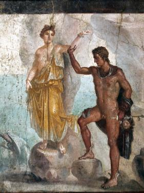 Italy, Naples, Naples Museum, from Pompeii, House of the Dioscuri (VI, 9, 6), Perseus and Andromeda by Samuel Magal