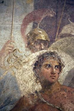Italy, Naples, Naples Museum, from Pompeii, House of the Tragic Poet, Reg VI, Achilles and Briseis by Samuel Magal