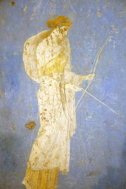 Italy, Naples, Naples Museum, from Stabia, Villa of Varanus or Ariadne (Bedroom), Diana (Artemis) by Samuel Magal