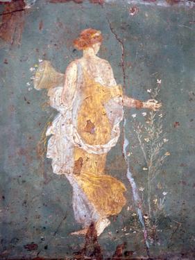 Italy, Naples, Naples Museum, from Stabia, Villa of Varanus or Ariadne, Flora (Khloris) by Samuel Magal