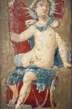 Italy, Naples, Naples Museum, from the Villa of Arianna in Stabiae, Helios sitting on his Chariot by Samuel Magal