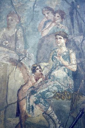 Italy, Naples, Naples Museum, Pompeii, House of L. Cornelius (VII 12, 26), Artemide and Calisto by Samuel Magal