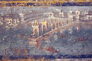 Italy, Naples, Naples National Archeological Museum, from Pompeii, Maritime Landscape by Samuel Magal