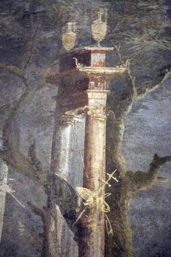 Italy, Naples, Naples National Archeological Museum, from Pompeii, Rocky Landscape by Samuel Magal