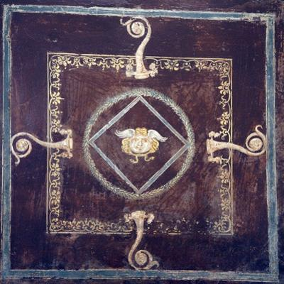 Italy, Naples, Naples National Archeological Museum, from Pompeii, Soffito (Beamed Ceiling) by Samuel Magal
