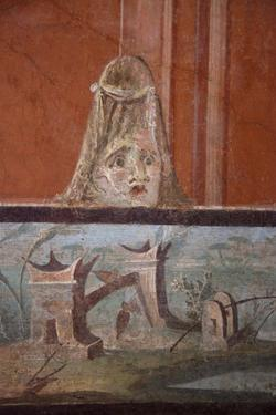 Italy, Naples National Archeological Museum, from Pompeii, Isis Temple, Third Style Decoration by Samuel Magal
