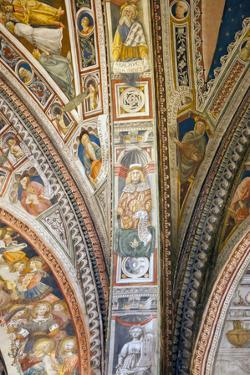 Italy, Siena, Siena Cathedral, Baptistery Apse, Fresco, Interior by Samuel Magal