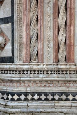 Italy, Siena, Siena Cathedral,  Baptistery Facade, Marble Decorations by Samuel Magal