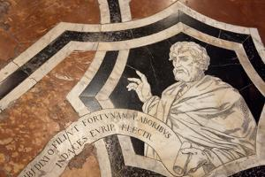 Italy, Siena, Siena Cathedral, Museum, Inlaid marble Mosaic Floor by Samuel Magal