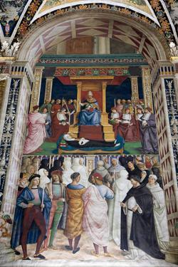 Italy, Siena, Siena Cathedral, Pius II canonizes Saint Catherine of Siena by Samuel Magal
