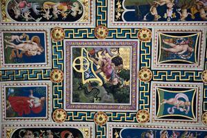 Italy, Siena, Siena Cathedral, The Piccolomini Library, Fresco Ceiling by Samuel Magal