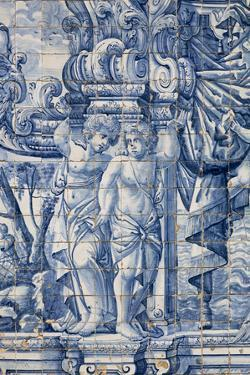 Portugal, Porto, The Church of Saint IIdefonso, Ceramic Tiles (Azulejo) by Samuel Magal