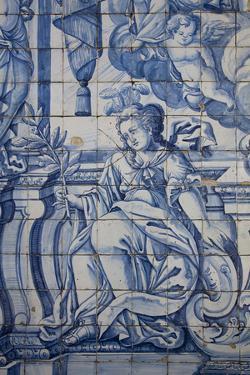Portugal, Porto, The Church of Saint IIdefonso, Ceramic Tiles (Azulejo) by Samuel Magal