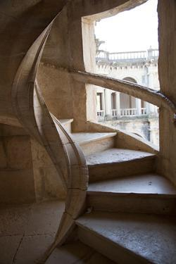 Portugal, Ribatejo Province, Tomar, Convent of the Knights of Christ, Spiral Staircase by Samuel Magal