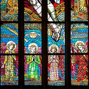 Prague, St. Vitus Cathedral, Chevet Windows, Central Window, The Holy Trinity by Samuel Magal