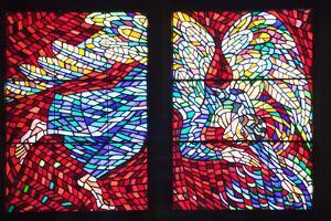 Prague, St. Vitus Cathedral, Schwarzenberg Chapel, Stained Glass Window, Abraham Banishing Hagar by Samuel Magal