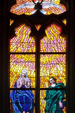 Prague, St. Vitus Cathedral, Southern Aisle, Chapel of St Ludmila, Stained Glass Window by Samuel Magal
