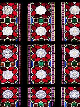 Prague, St. Vitus Cathedral, Stained Glass Window, Decorative Motifs by Samuel Magal