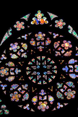 Prague, St. Vitus Cathedral, Western Frontispiece, Rose Window, Creation of the World by Samuel Magal
