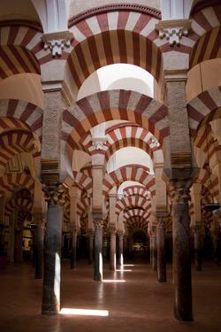 Spain, Andalusia, Cordoba, Cathedral–Mosque of Cordoba, Original Mosque, Arched Aisles by Samuel Magal