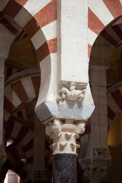 Spain, Andalusia, Cordoba, Cathedral–Mosque of Cordoba, Original Mosque, Column Relief by Samuel Magal