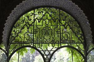 Spain, Andalusia, Sevilla, Alcazar, Royal Fortresses (The Royal Alcazar), Lancet Window by Samuel Magal