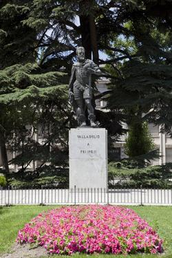 Spain, Valladolid, Felipe II Monument by Samuel Magal