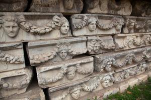 Turkey, Aphrodisias, Sebasteion, Wall Reliefs, Theatrical Masks by Samuel Magal