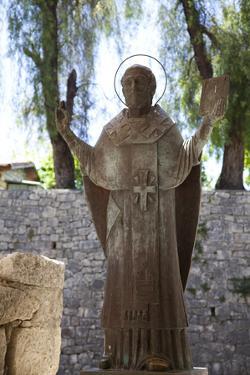 Turkey, Demre, Statue of the Russian Saint Nicholas (2000) by Samuel Magal